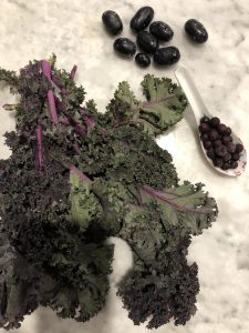 Purple kale for Clio's Morning NutriBullet Smoothies