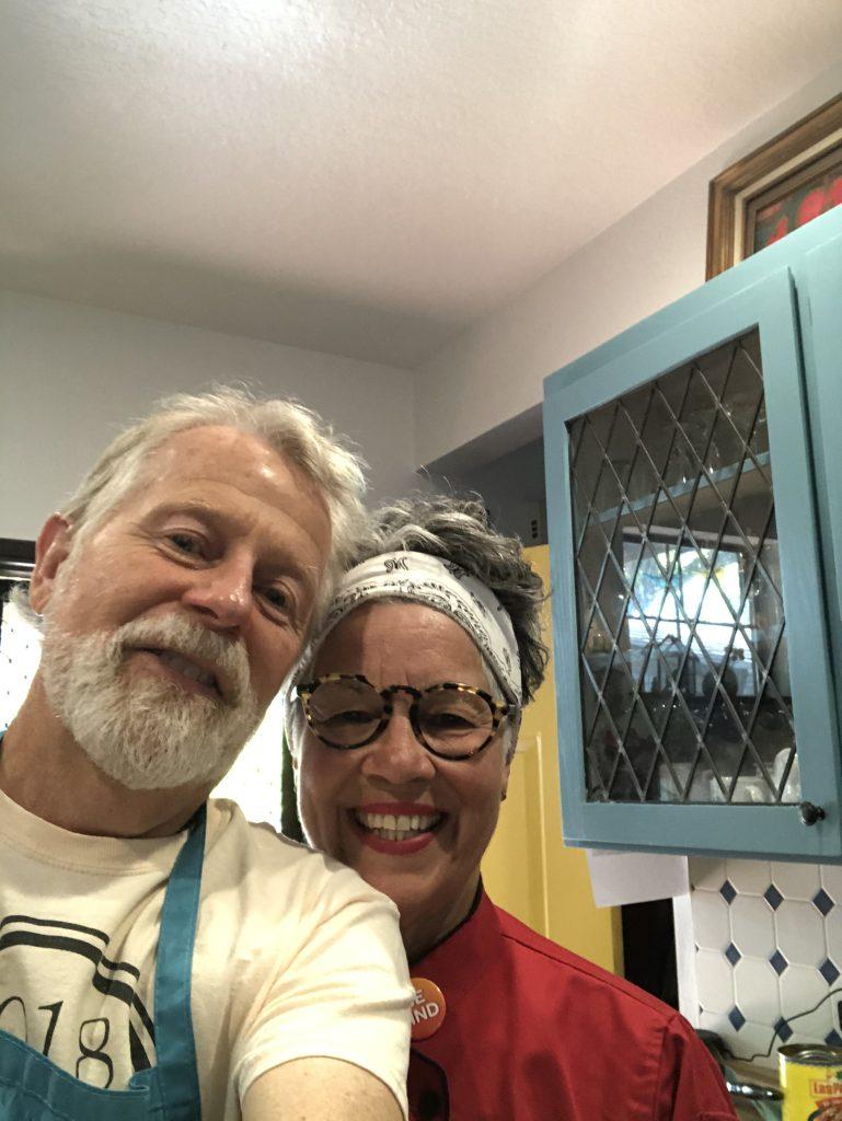 Vegan enchilada night with Rick and Clio Muir